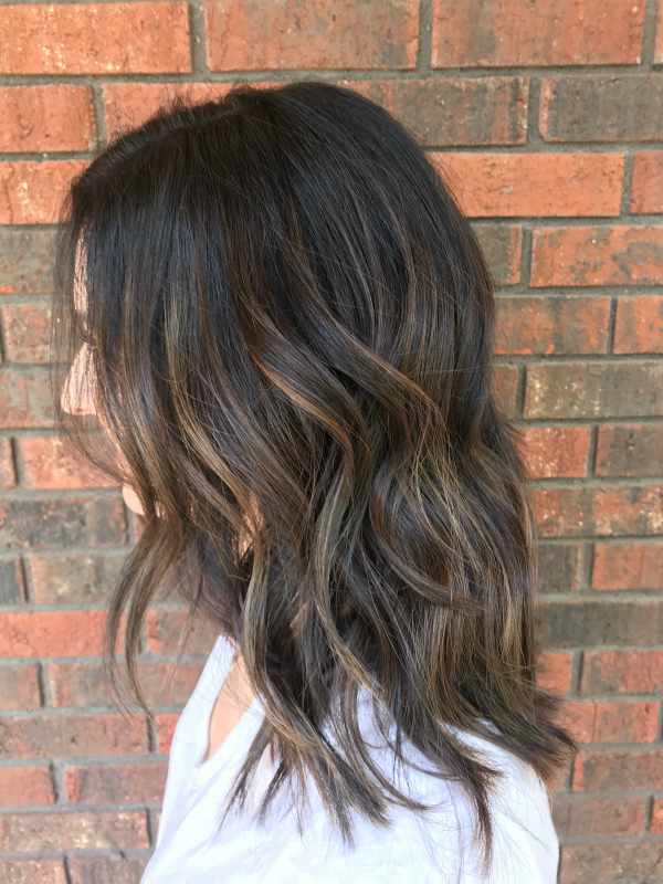 hair and beauty bag, hairstyle, brunette balayage, short hairstyle, north carolina blogger