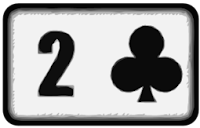 two of clubs playing card