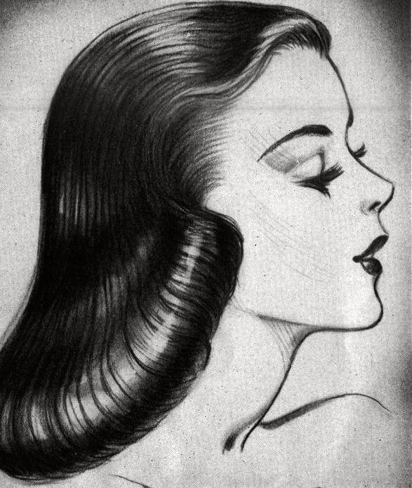 Idda Van Munster 1950s Pageboy Hairstyle Summer Wind