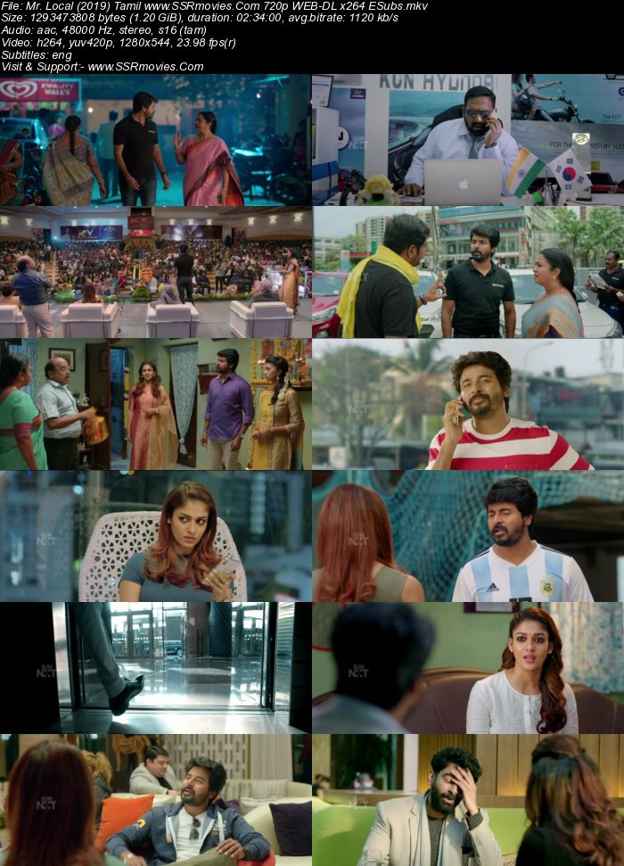 Mr. Local (2019) Tamil 720p WEB-DL x264 1.2GB ESubs Movie Download