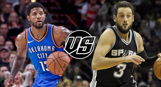 Live Streaming List: Oklahoma City Thunder vs San Antonio Spurs 2018-2019 NBA Season