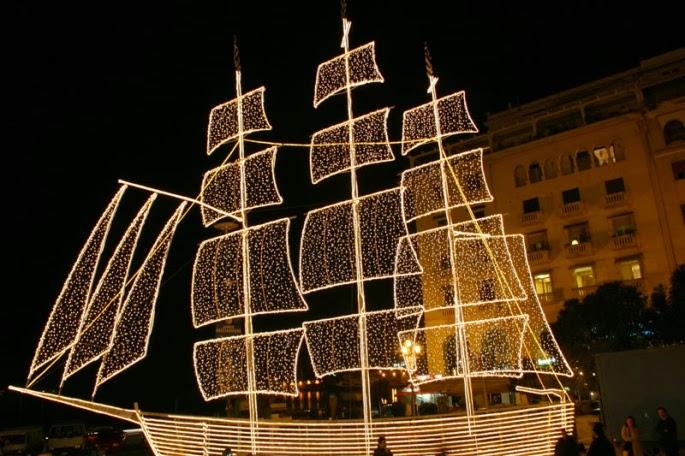 Christmas Boat Greece.Teen Press Christmas In Greece