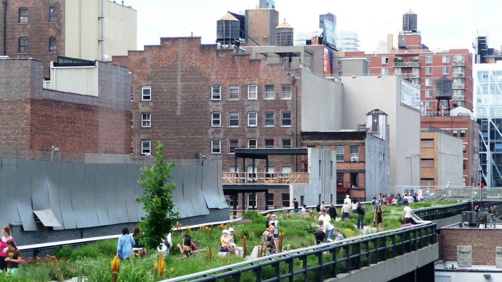 Walking And Drinking Beer On New Yorku0027s High Line