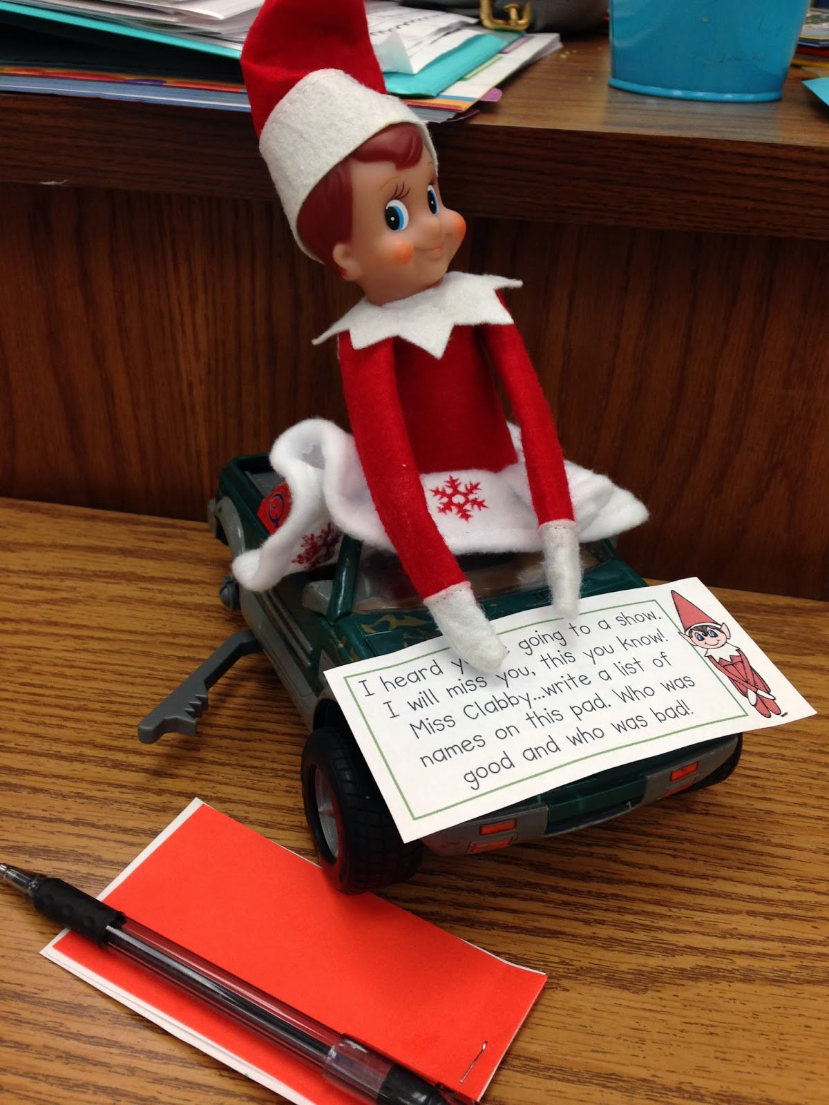 Kindergarten Smiles Elf On The Shelf In The Classroom