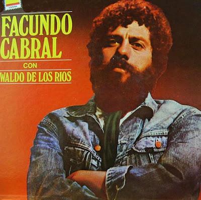 Foto de Facundo Cabral en portada de disco