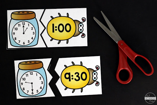 print free telling time puzzles and cut apart