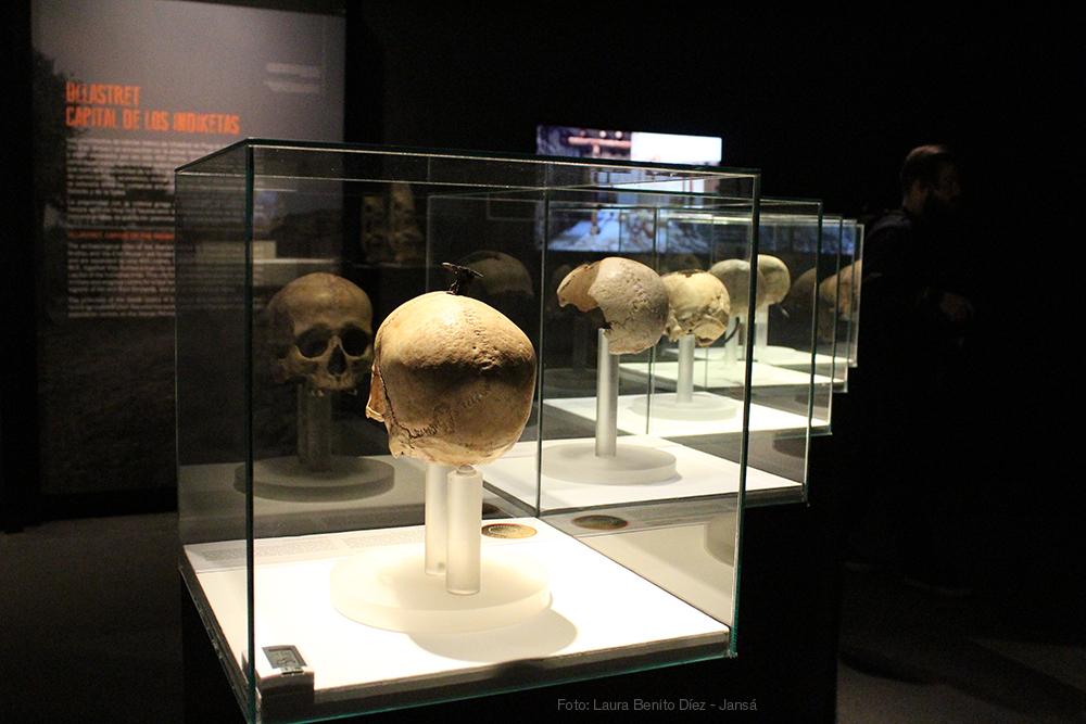 Vista posterior de los cráneos enclavados de Puig Castellar y Ullastret. Foto: Laura Benito Díez - Jansá