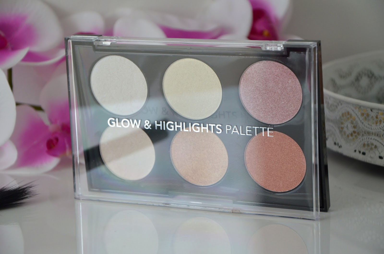 glow and highlights palette action packaging