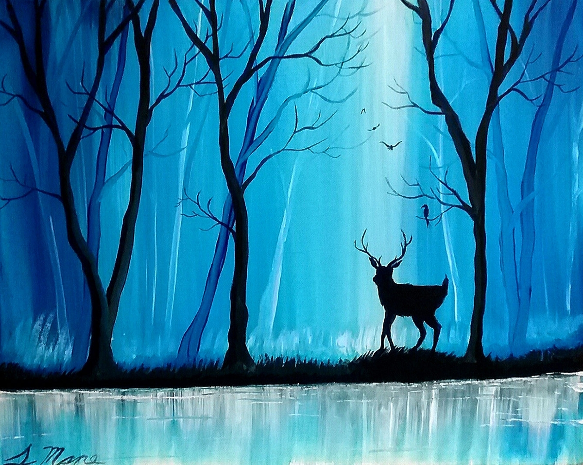 04-The-Hidden-Path-Blue-Paintings-by-Justin-Mane-www-designstack-co