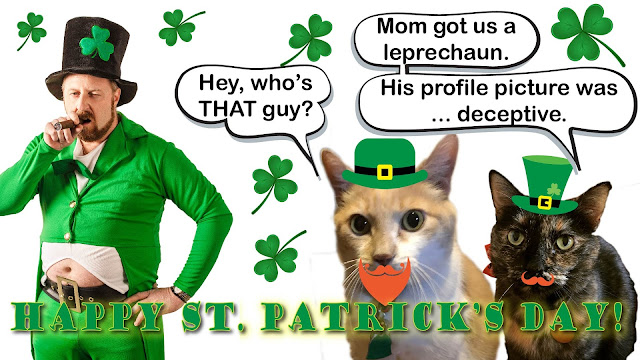 Real Cats' St. Patrick's Day Card 2018