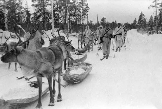 2 January 1940 worldwartwo.filminspector.com reindeer Finnish troops