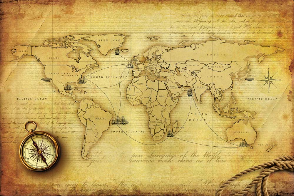 Walls and murals custom wallpapers how to use the timeless appeal of world map wallpaper in - Vintage antique baby room ideas timeless charm appeal ...