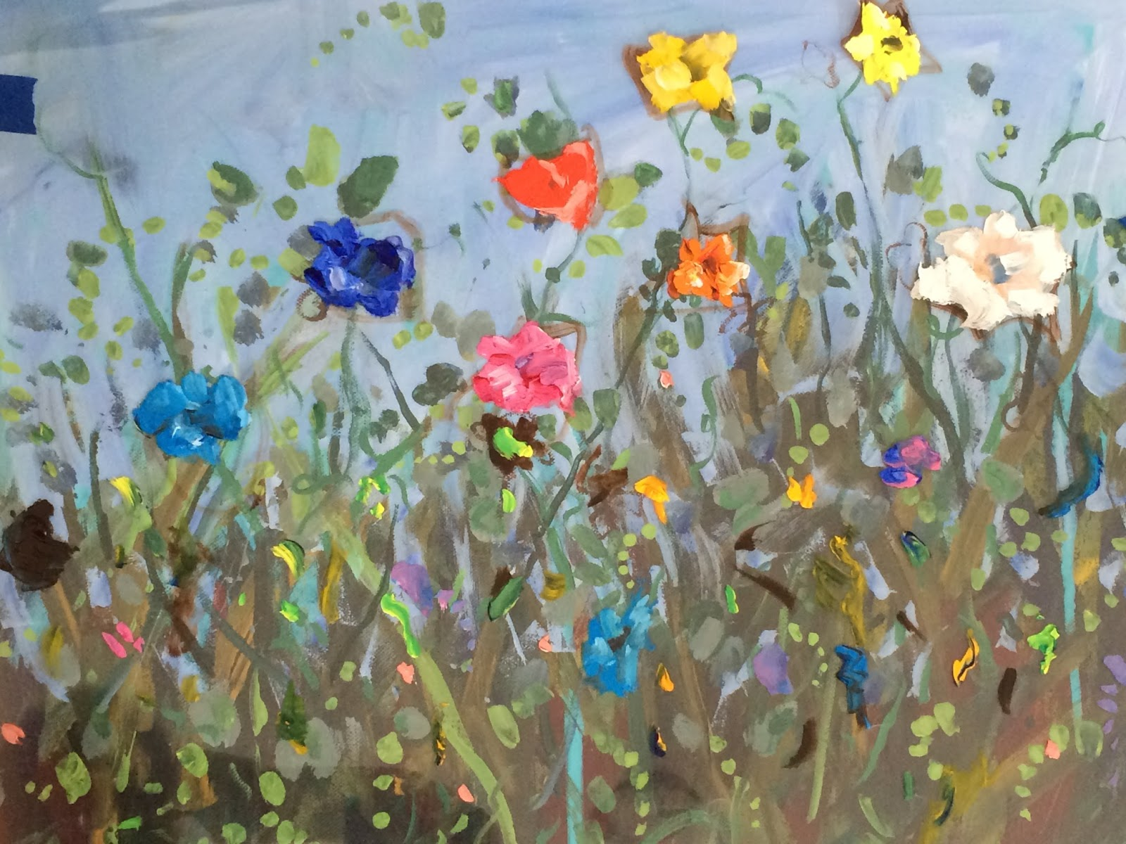 Kelley macdonald 39 s daily paintings garden of color 16x20 for Acrylic mural paints