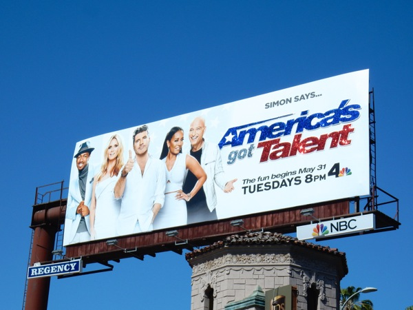 Glittering Americas Got Talent season 11 billboard