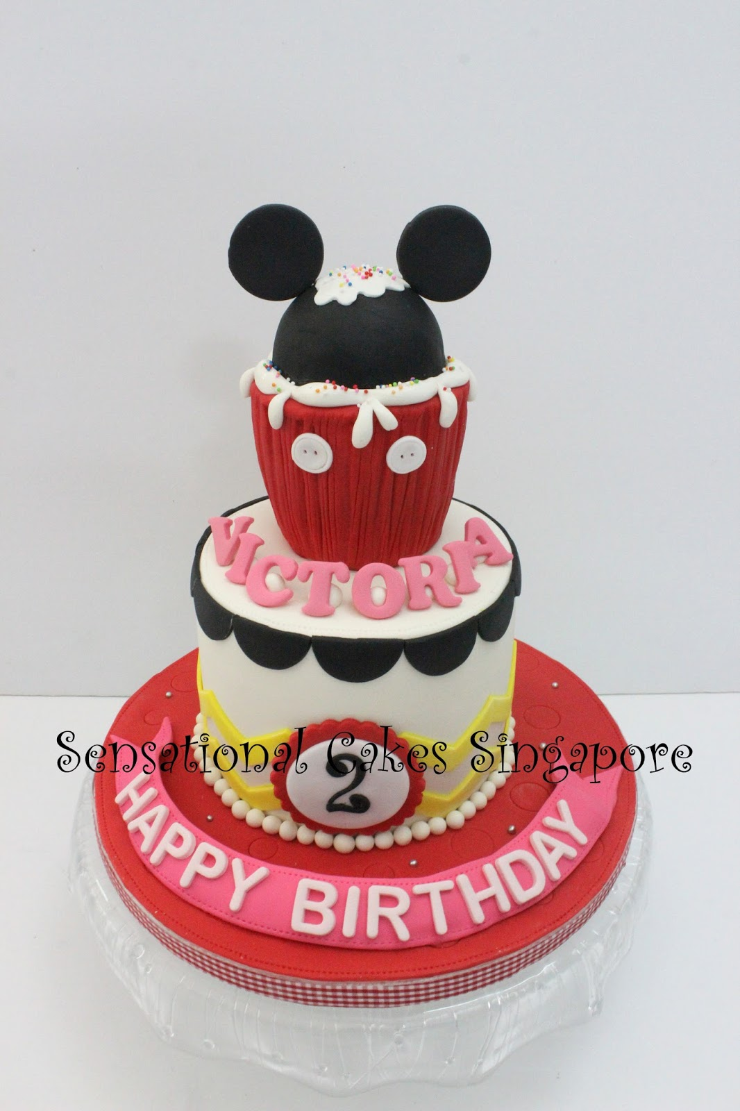 The Sensational Cakes Mickey Mouse Cupcake Theme Design