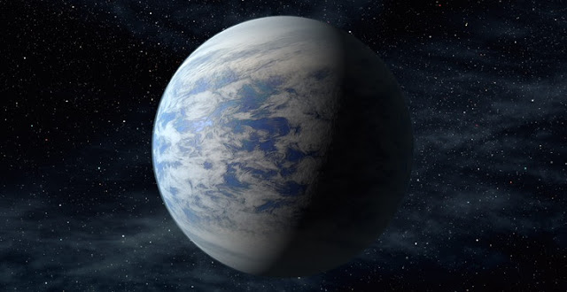 The artist's concept depicts Kepler-69c, a super-Earth-size planet in the habitable zone of a star like our sun, located about 2,700 light-years from Earth in the constellation Cygnus.  Image: NASA.gov