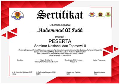download desain sertifikat kegiatan format cdr gratis
