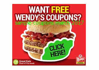 free Wendys coupons march 2017