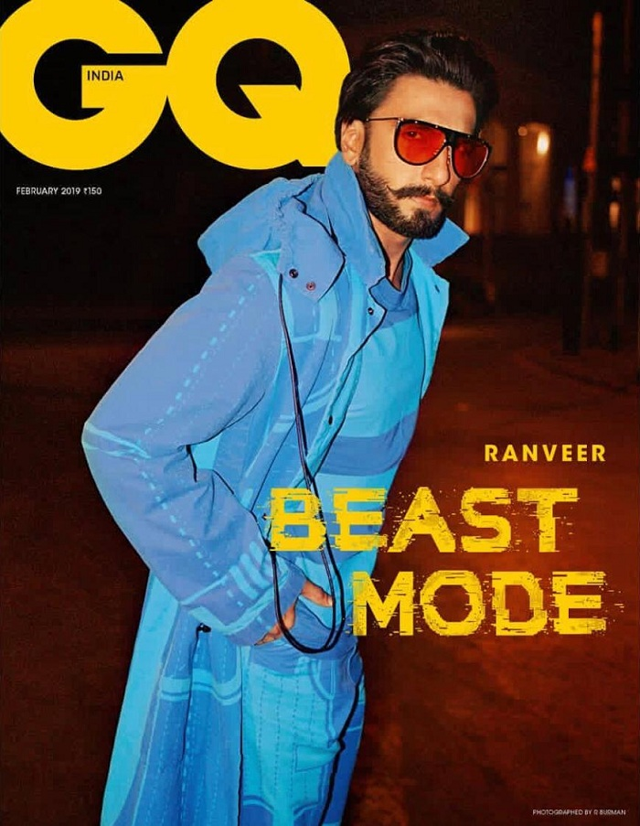Ranveer Singh Puts On The Beast Mode For The February Cover Of Gq