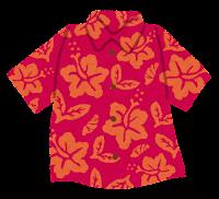 アロハシャツのイラスト「赤」