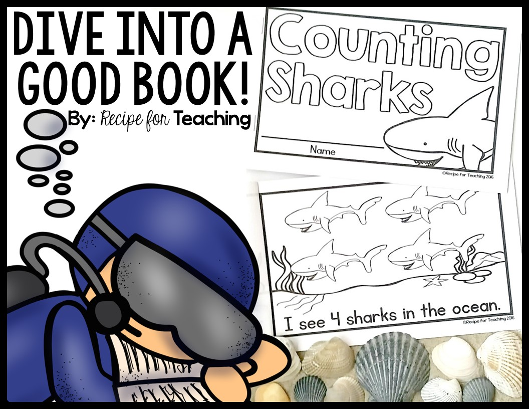shark week counting sharks book recipe for teaching