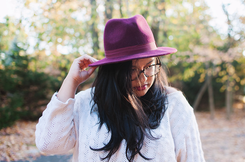 forever 21 fedora, wool fedora, affordable wool hat, forever 21 wool hat, burgundy fedora