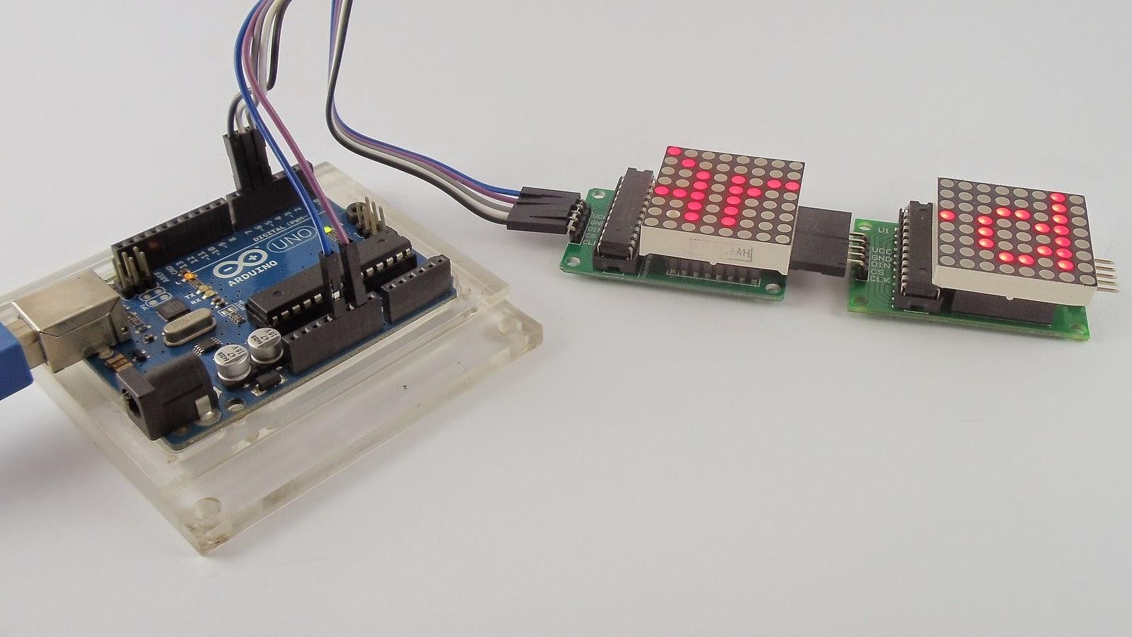 Ligação Arduino e módulo matriz de leds 8x8