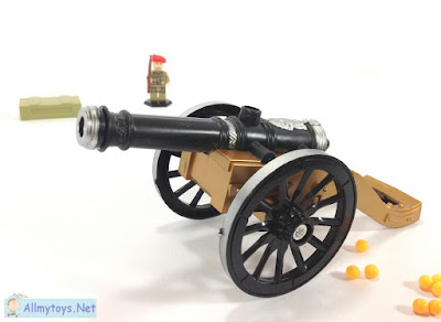Old days cannon toy that shoot plastic ball bullets