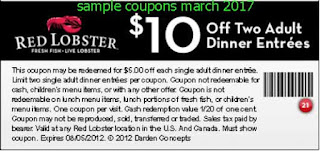 Red Lobster coupons for march 2017