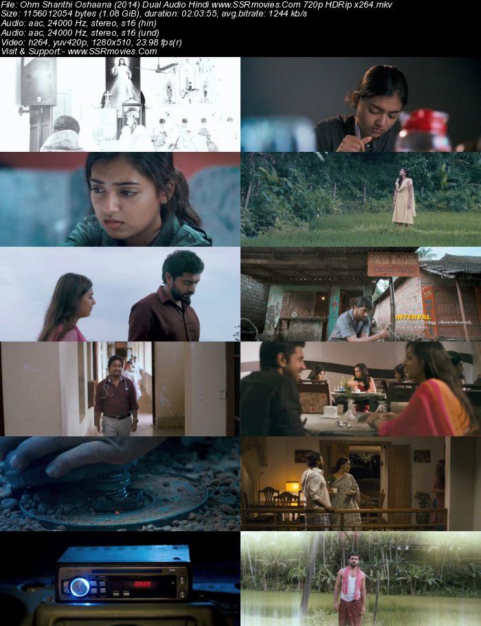 Ohm Shanthi Oshaana (2014) UNCUT Dual Audio Hindi 480p HDRip 400MB Movie Download
