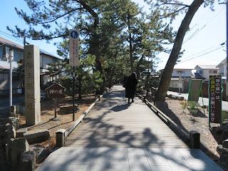 三保の松原に続く神の道