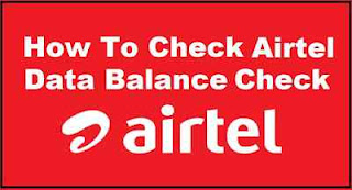 Airtel Data Balance Check