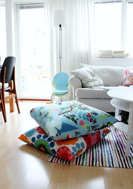 Подушки как место присесть