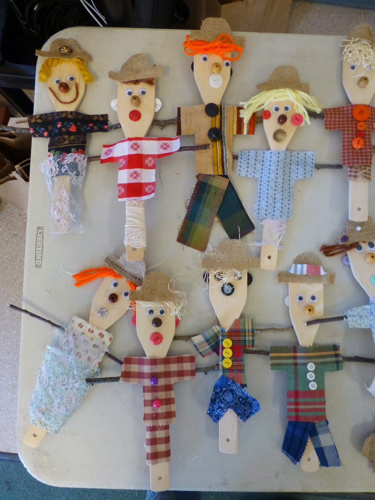 The Accidental Art Teacher Scarecrows From Spoons