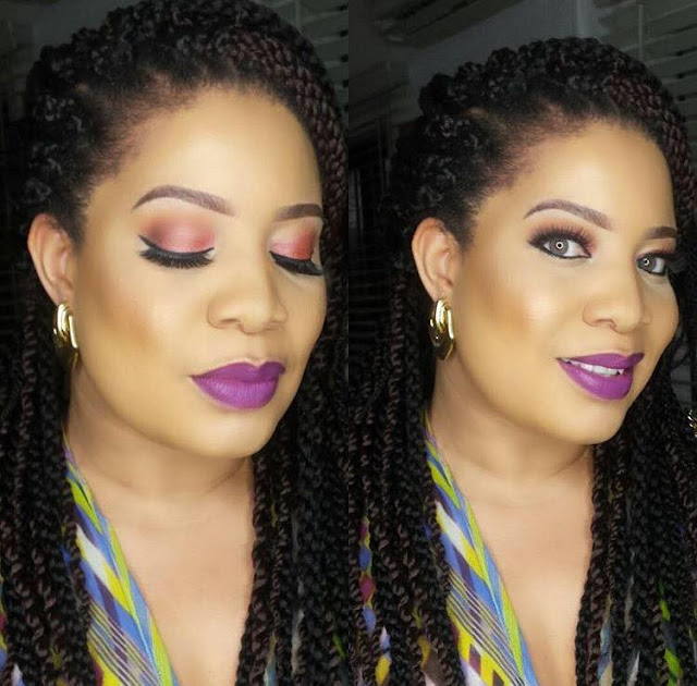 Actress  Monalisa Chinda Shared a Beautiful Makeup Photo.