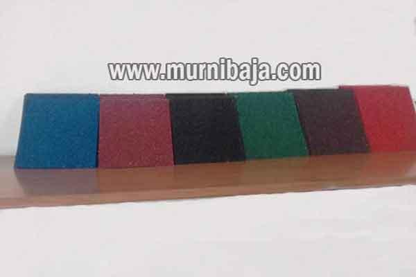 Atap spandek pasir warna merah maroon, Atap Spandek Pasir warna hijau, Atap Spandek Pasir warna biru, Atap Spandek Pasir warna cokelat, Atap Spandek Pasir warna hitam