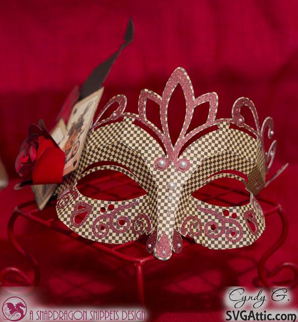 3d svg Masquerade mask