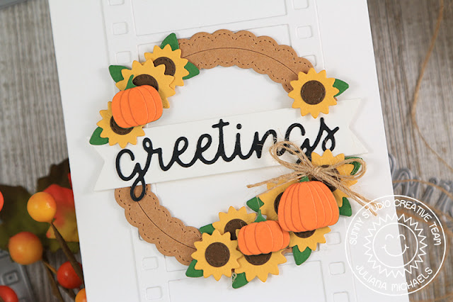 Sunny Studio Stamps: Fall Flicks Filmstrip Dies Fall Themed Greetings Card by Juliana Michaels