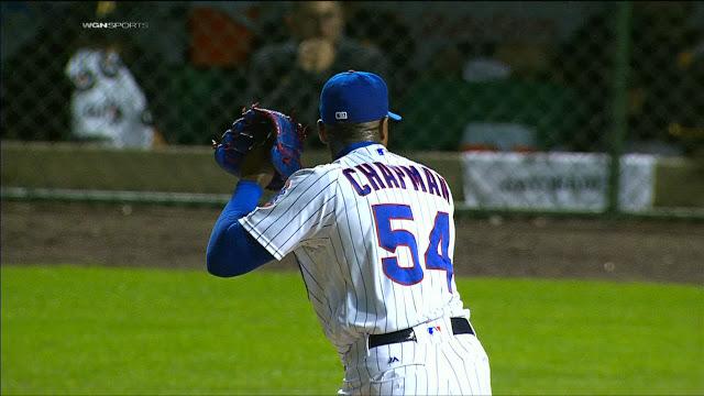Chapman va por 11 salvamentos con Chicago y 31 en todo el año