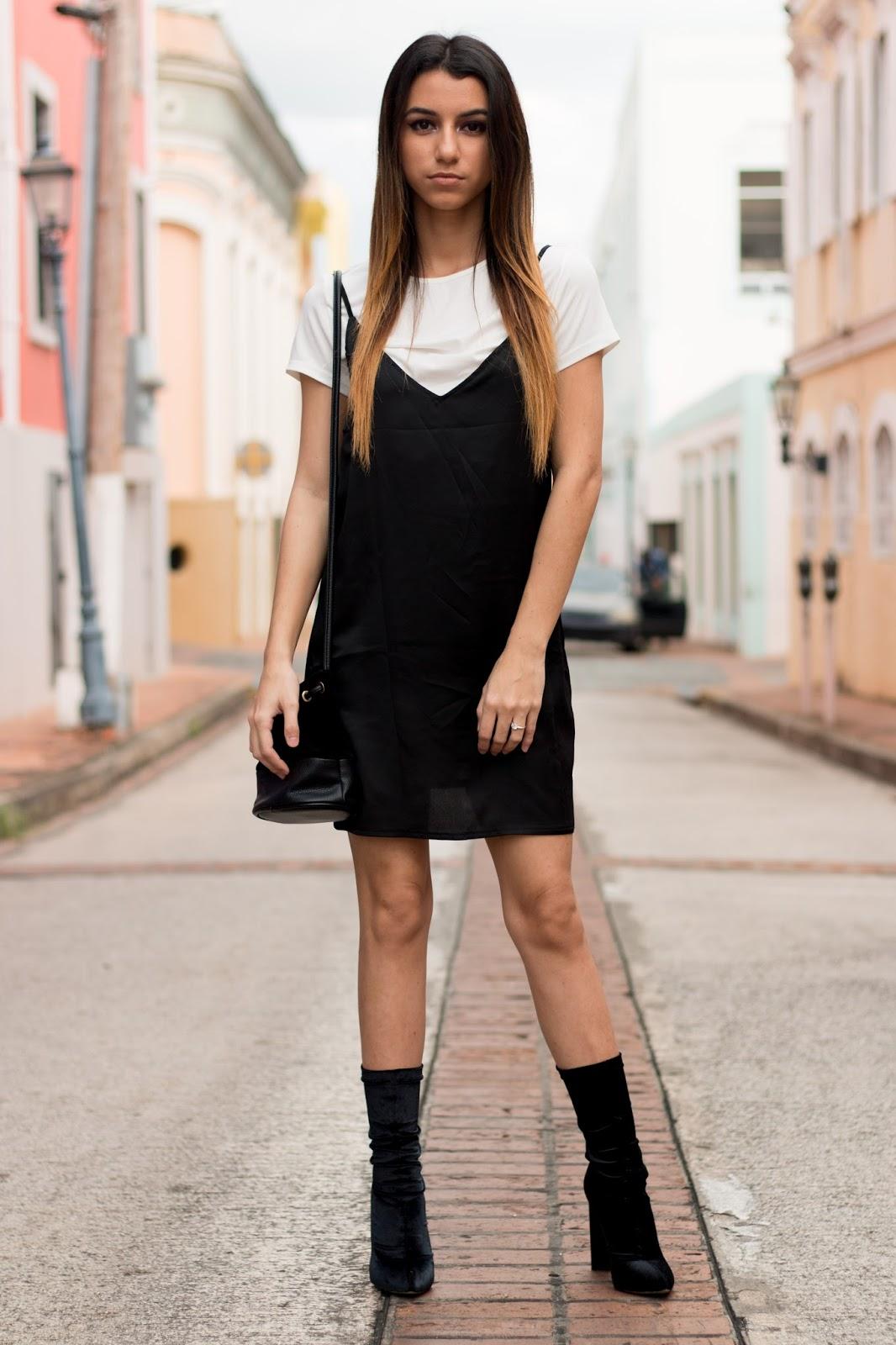 slip dress with tshirt street style puerto rico yanired annech