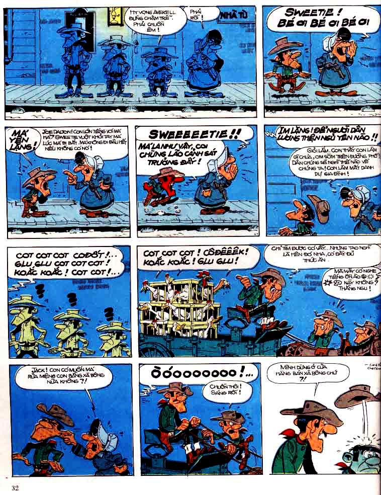 Lucky Luke tap 15 - ma dalton trang 33