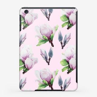 Chehol dlya i-pad s printom magnoliya na rozovom | Inna Yakuskeva's blog