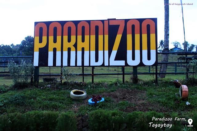 Paradizoo Farm Entance Signage