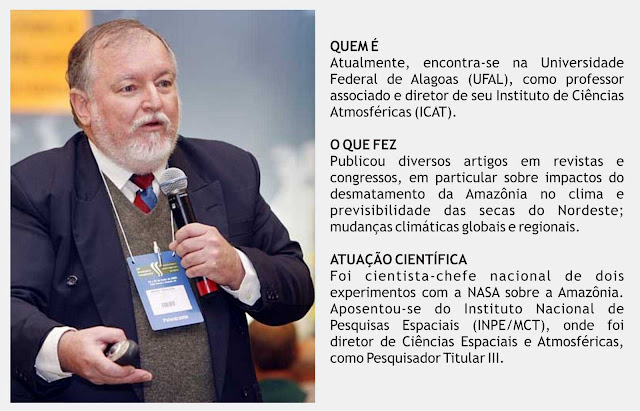 Dr. Luiz Carlos Molion, professor de climatologia da Universidade Federal de Alagoas