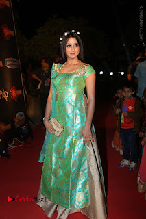 Actress Sanjjanaa Stills in Green Long Dress at Gemini TV Puraskaralu 2016 Event  0053.JPG