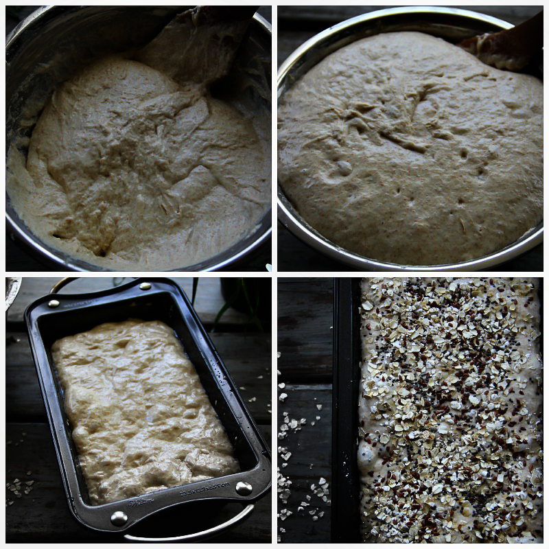 Simple No-Knead Whole Wheat Bread Recipe with youtube video tutorial. #recipe #bread #baking #food