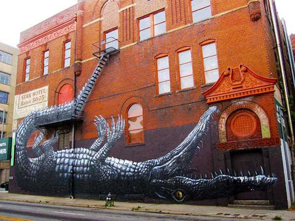Moderne GRAFFITI COLLECTION IDEAS: Graffiti urban street art by Roa QJ-53