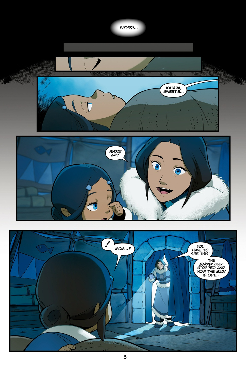 Sorry, can Avatar the last airbender katara comic