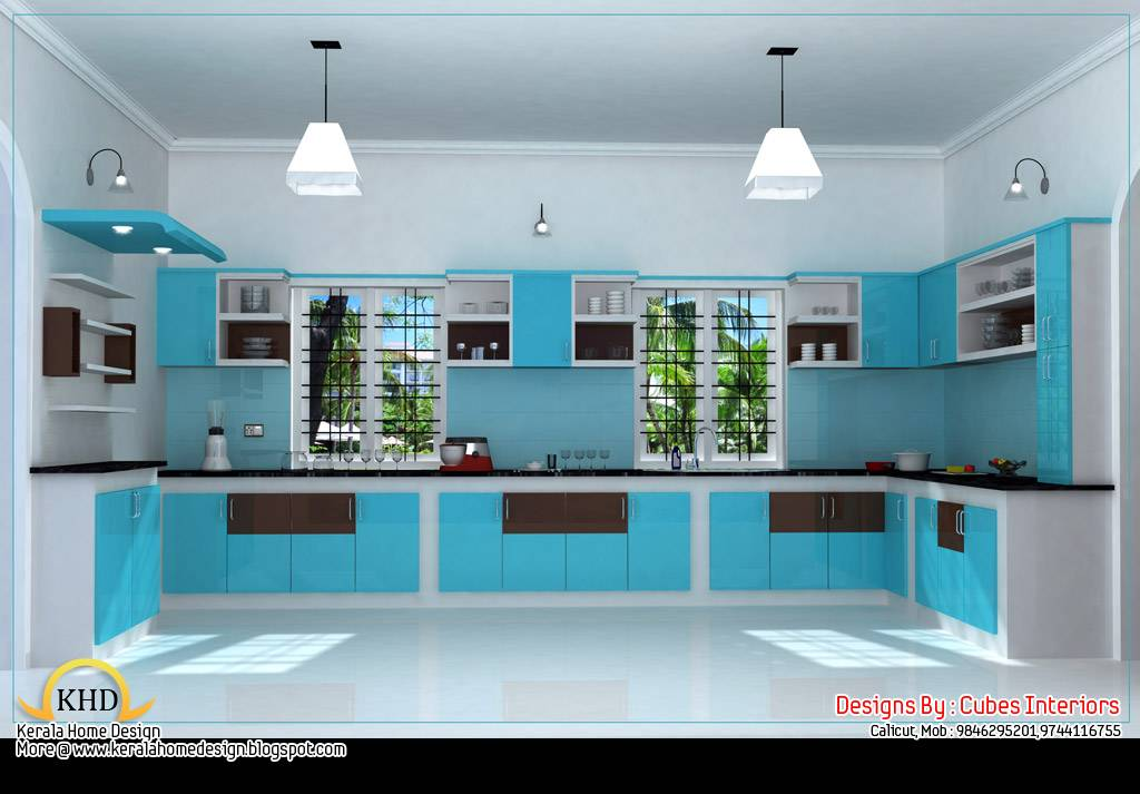 Home interior design ideas kerala home design and floor for House plans with interior pictures