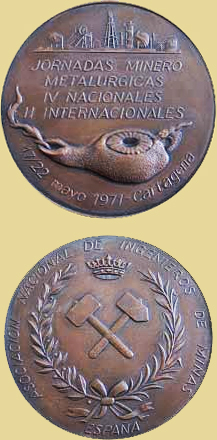 Medalla de las IV Jornadas Minero Metalúrgicas en Cartagena, 1971